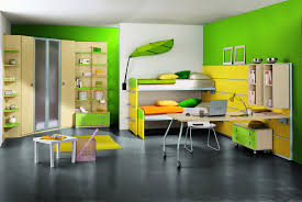 modern kids room green biege study twin kids study room