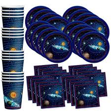 space theme birthday party supplies hanging planet astronaut decoration kids photo backdrop boys home