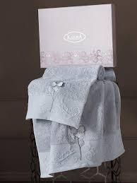 <b>Комплект</b> махровых <b>полотенец с вышивкой</b> KARNA LILYAN ...