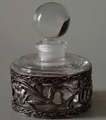 <b>French</b> Iris Metal Overlay Perfume Bottle | Декор