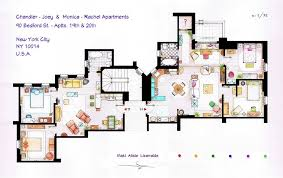 Floor plans of homes from famous TV showsFriends Apartment