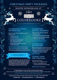christmas promotions colebrooke spa cb christmas party poster