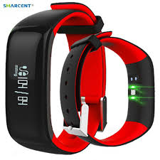 P1 Smartband <b>Activity Tracker Smart Watch</b> Blood Pressure Monitor ...