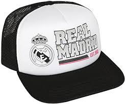 International Soccer Mesh Trucker Hat-<b>Real Madrid</b>-<b>Black/White</b>
