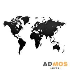 <b>Деревянная карта мира World</b> Map Wall Decoration Small, черная ...