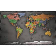 A Cool <b>Color</b> World Map - Sleek and Modern Design | Favorite ...