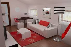 living room with bed: design small bedroom in white red and black ideastodecor small living room decor