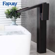 <b>Fapully bathroom faucet waterfall</b> oil rubbed bronze brass wash ...