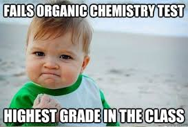 Fails Organic Chemistry Test Highest grade in the class - o-chem ... via Relatably.com
