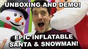EPIC <b>LED INFLATABLE SNOWMAN</b> AND SANTA!! UNBOXING AND ...
