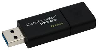 Купить <b>Флешка USB KINGSTON</b> DataTraveler 100 G3 64Гб, USB3 ...