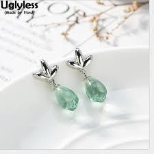 Online Shop Uglyless 100% Real 925 Sterling Silver Enamel Blue ...