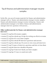 top  finance and administration manager resume samplestop  finance and administration manager resume samples in this file  you can ref resume
