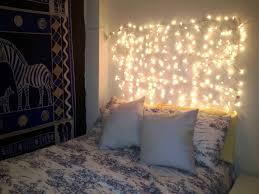 bedroom wall decor string lights