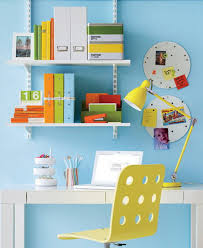 brilliant home office idea for comfy working place bright home office has blue wall painting bright home office design