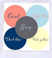 ideas light blue bedrooms pinterest: gray dark blue light blue coral amp pale yellow