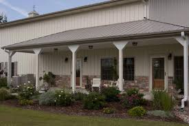Perfect Combo  Metal Building Home  amp  Metal Barn Building      The porch area where residents can sit and watch the sun rise or the stars shine