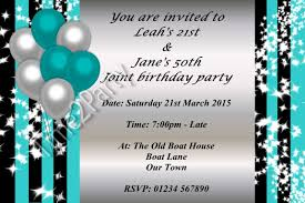personalised birthday party invitations single joint 21st 30th personalised birthday party invitations single joint 21st 30th 40th 50th 60th