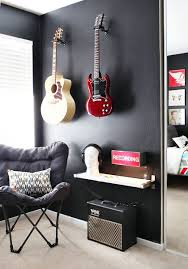 guitar bedroom decor ba painting the wall black with bright guitars great contrastnot sure abo