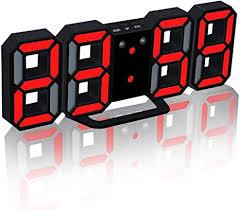 3D LED Digital Electronic Alarm Clock, 8.5'' Large ... - Amazon.com
