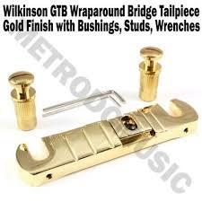 <b>Wilkinson GTB Wraparound Bridge</b> Tailpiece Gold Stop Tail Guitar ...
