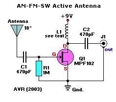 простая небольшая схема антенны <b>AM</b>, <b>FM</b>, SW | FM <b>Radio</b> ...
