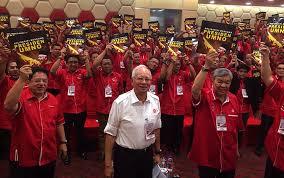 Image result for umno+baju merah