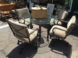 comfortable patio chairs aluminum chair:  popular of comfortable patio chairs comfortable patio furniture  swivel chairs and super nice table backyard
