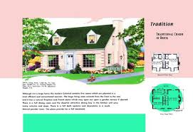 Cape Cod House Plans   s America Style s floor plan and rendering of Cape Cod house called Tradition   Photo © Buyenlarge