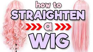 HOW TO STRAIGHTEN A WIG | Alexa's Wig Series #5 - YouTube