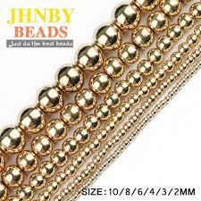 JHNBY Round Hematite beads 2/3/4/6/8/10mm <b>Natural Stone</b> 14 ...
