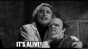 It's alive!!! - Young Frankenstein - quickmeme via Relatably.com