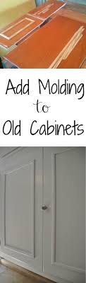 kitchen cabinet door trim: add molding to old cabinets great way to update dated kitchens if you like something with a little more from frou use appliquacs with curves and curlicues