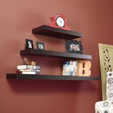 ideas wall shelf hooks: full size of  interior sweet dark brown  levels hardwood handmade wall shelves brown stained wall living wall decor ideas fabulous wall shelves assorted materials and decorations red clock dark photo famed decoration