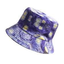 Van Gogh <b>starry sky Print</b> Bucket Hat Women Men <b>Couple</b> Summer ...