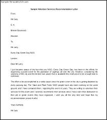 volunteer services recommendation letter template word doc    volunteer services recommendation letter template word doc