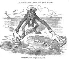the war of and the u s filipino war peace history a spanish satirical drawing published in 1896 warning of u s intentions the text below translates