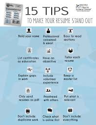 top 15 tips to help your resume stand out tips resume