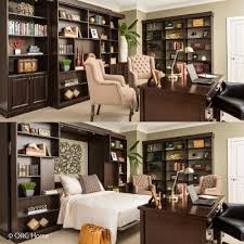 org home murphy beds let you transition from home office library or open space bed in office