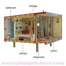Modern small house Sheena  pin up houses tiny house floor plans