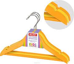 Купить <b>Вешалка</b> детская Valiant, с выемками, цвет: оранжевый ...