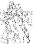 Железный человек игра раскраска