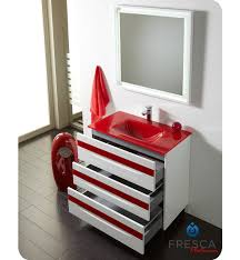 red bathroom vanity full  quot fresca platinum giocco glossy white red modern bathroom vanity