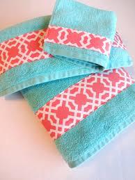 bathroom mats set coral