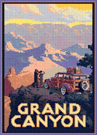 Image result for cross stitch vintage travel posters