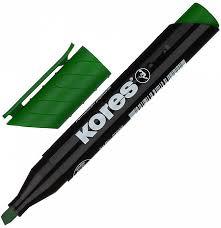 "<b>Маркер перманентный</b> ""<b>Kores</b>"" зеленый 3-5 мм, скошенный ..."