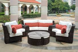 patio furniture sectional ideas: seating gt fiji curved resin wicker round