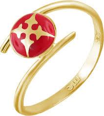 Золотое <b>кольцо ESTET Moscow</b> 01K0311251JE с эмалью ...