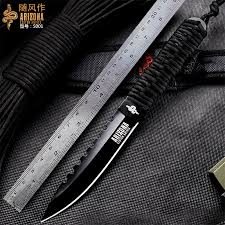 WIND <b>Outdoor sharp straight</b> knife, wild survival tactical knife ...