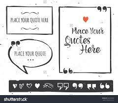 quotes templates hand drawn black white stock vector  quotes templates hand drawn black and white set